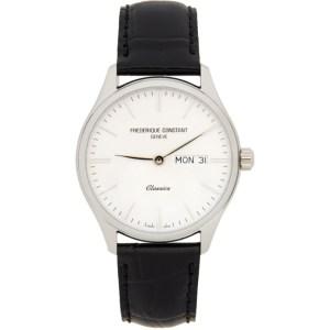 Frederique Constant Silver and Black Classics Quartz Watch