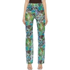 KIM SHUI SSENSE Exclusive Green Mesh Lounge Pants
