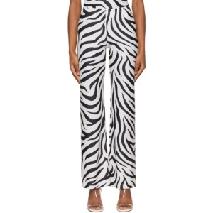 Maryam Nassir Zadeh SSENSE Exclusive White and Black Dance Lounge Pants