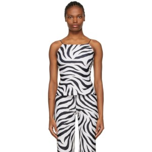 Maryam Nassir Zadeh SSENSE Exclusive White and Black Thea Tank Top