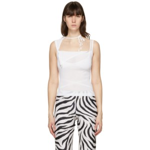 Maryam Nassir Zadeh White Ivo Tank Top