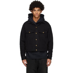 Fear of God Black Terry Relaxed Trucker Jacket