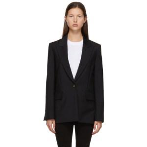 Victoria Victoria Beckham Black Wool and Mohair Boxy Blazer