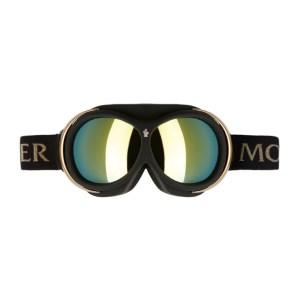 Moncler Grenoble Black and Gold Mirror Ski Goggles