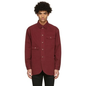 Han Kjobenhavn Red Twill Army Shirt