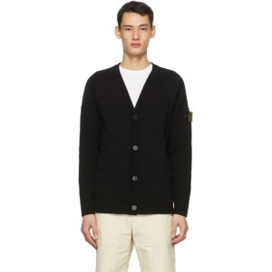 Stone Island Black Knit Cardigan