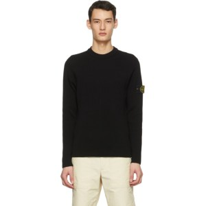 Stone Island Black Rib Knit Sweater