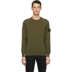 Stone Island Khaki Knit Sweater