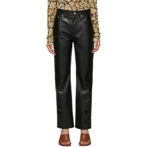 Nanushka Black Vegan Leather Vinni Trousers
