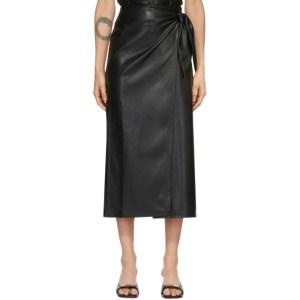 Nanushka Black Vegan Leather Amas Skirt