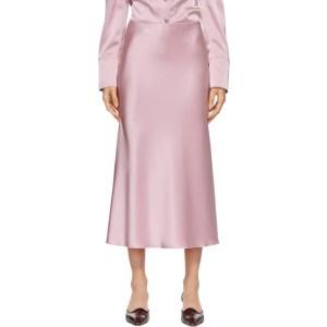 Nanushka Pink Satin Razi Skirt