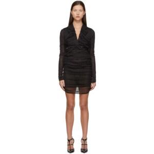 Y/Project Black Ruched Blazer Dress