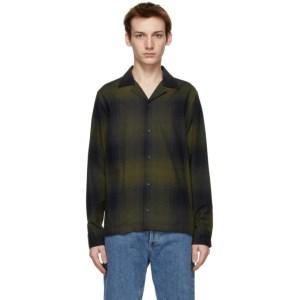 Saturdays NYC Green Check Flannel Marco Shirt