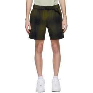 Saturdays NYC Green and Navy Joby Plaid Shorts