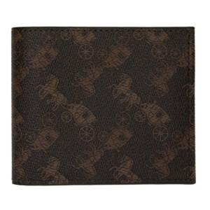 Coach 1941 Brown Double Billfold Wallet