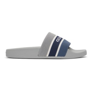 Coach 1941 Grey and Navy Knit Logo Sandals