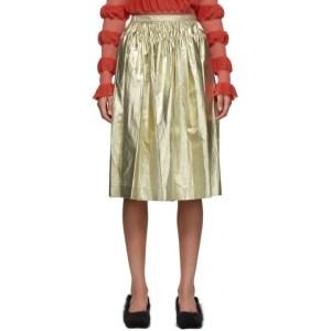 Molly Goddard Gold Midas Skirt