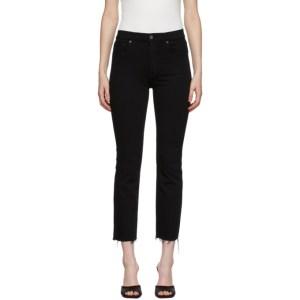 Grlfrnd Black Raw Cuff Reed Jeans
