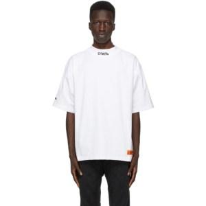 Heron Preston White Style Mock Neck T-Shirt