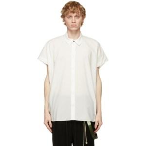 Jan-Jan Van Essche Off-Whit Loose Fit Short Sleeve Shirt