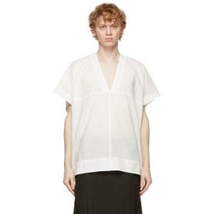 Jan-Jan Van Essche White Soft Cotton Short Sleeve Shirt