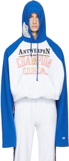 Vetements - Blue Champion Edition Antwerpen Hoodie
