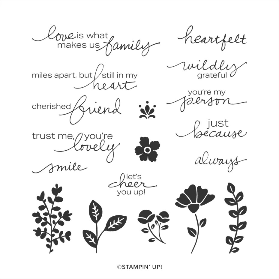 LOVELY YOU CLING STAMP SET (ENGLISH)