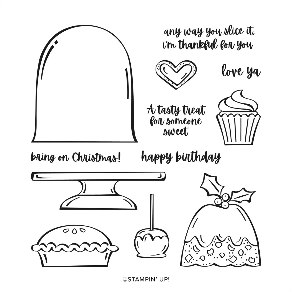 SWEETS & TREATS PHOTOPOLYMER STAMP SET
