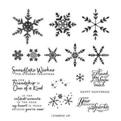 #153444 SNOWFLAKE WISHES PHOTOPOLYMER STAMP SET (ENGLISH)