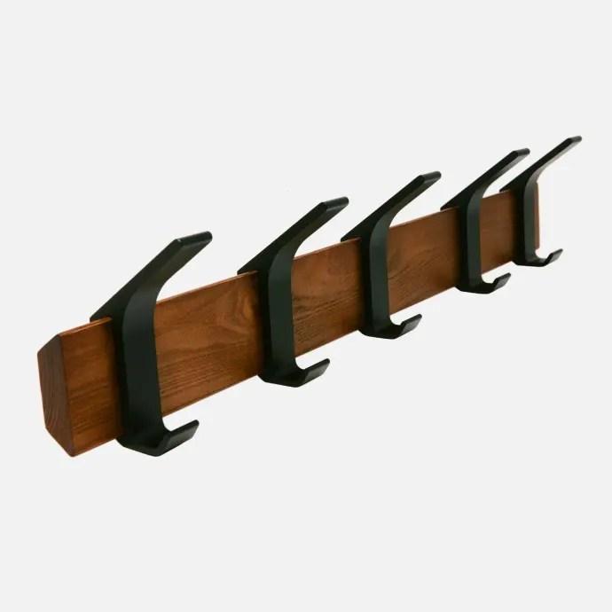 yamazaki rin wall coat rack dark brown