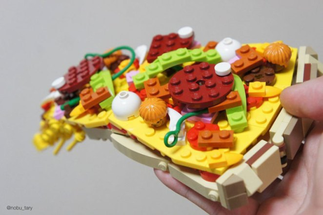 Lipsmacking Lego Food Art - Digital Art Mix