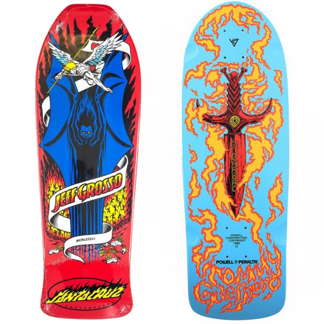 50 Classic Decks - Skateboard Art from the 80s and 90s - Digital Art Mix