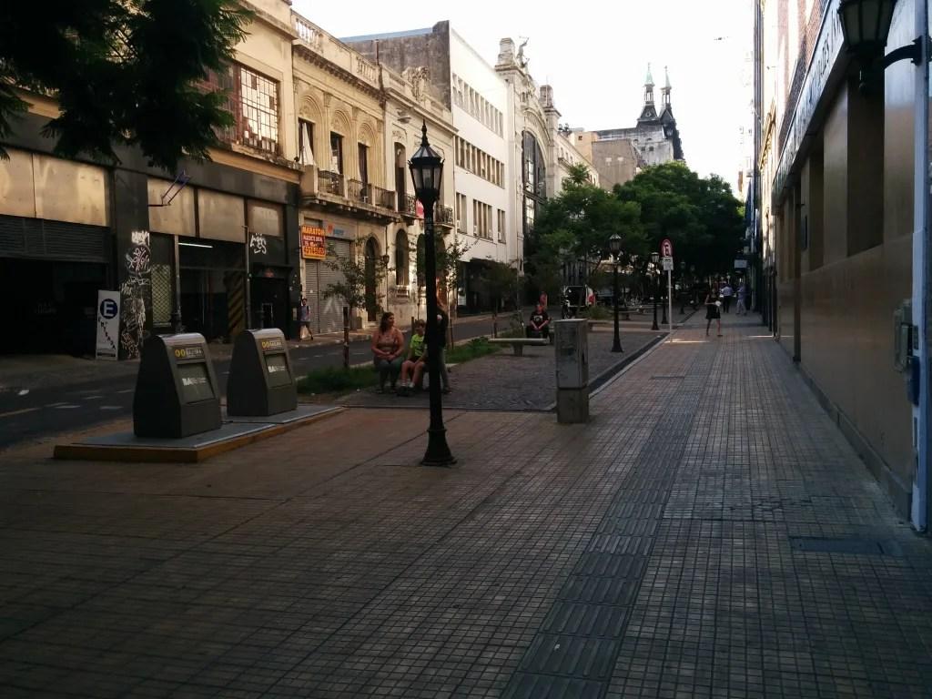 mini park along street
