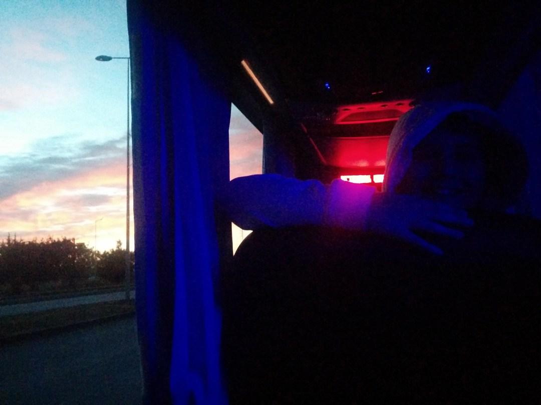 Sunrise on the bus
