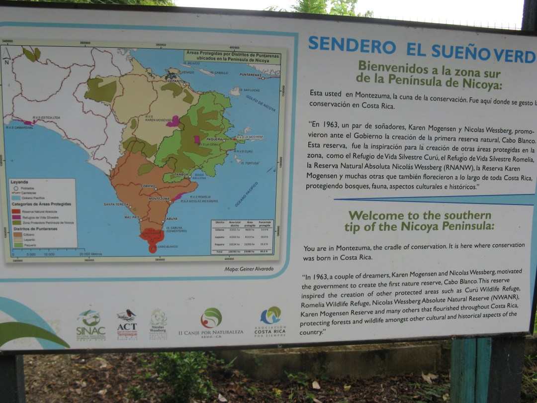 Nicoya Conservation Sign
