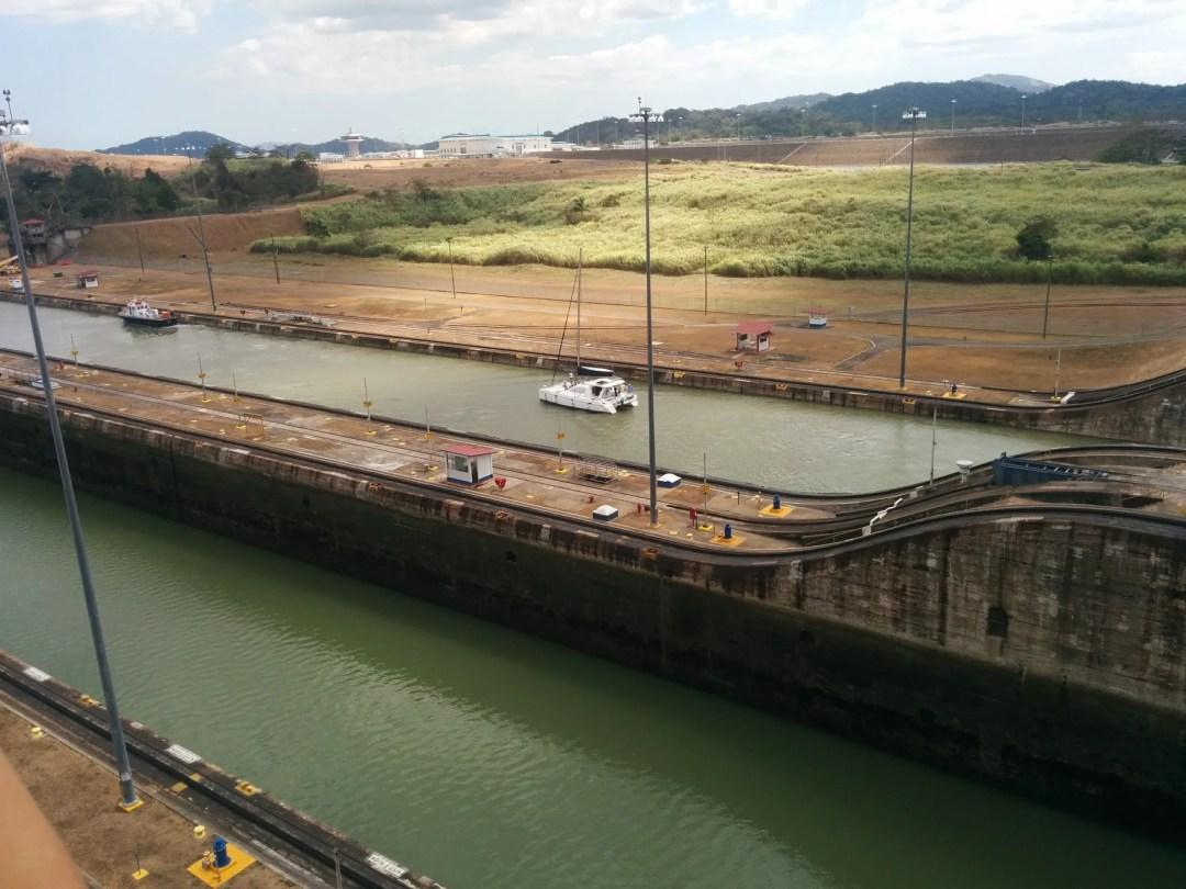 8) Catamaran in next lock section