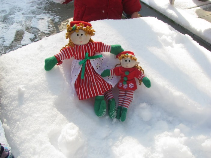 They loved the snow! It made them feel like they were at the North Pole!