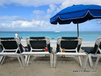 On the beach in Turks and Caicos
