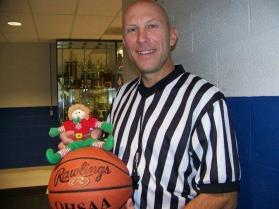 Elf Games selfie with the referee