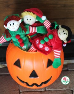 3 Elves in Pumpkin