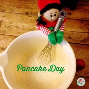 Preparing the pancake mix