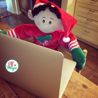 Elf playing computer games
