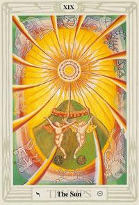 thoth tarot sun