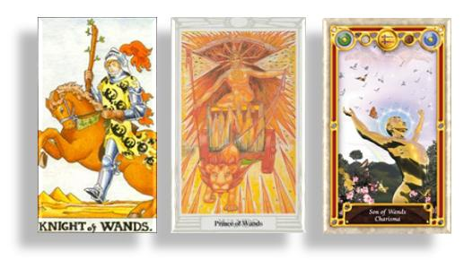 tarot court cards knights and prince of wands