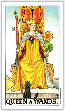 universal rider waite smith tarot queen of wands