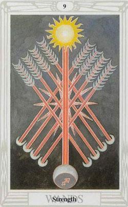 thoth tarot nine of wands