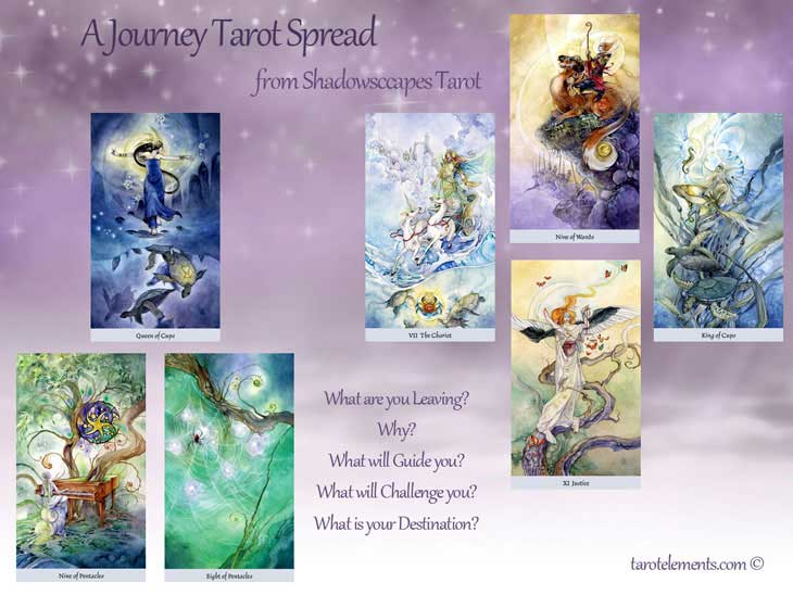 shadowscapes tarot shamanic journey tarot spread