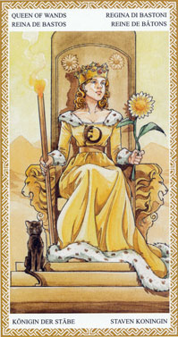 lo scarabeo tarot queen of wands