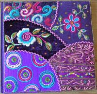 purple handmade notebook