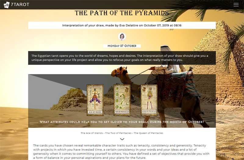 7tarot.com path to the pyramid tarot reading